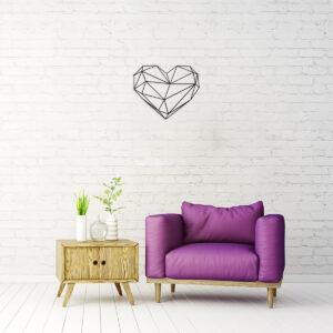 תמונת מתכת לקיר בעיצוב לב – Heart Of Steel